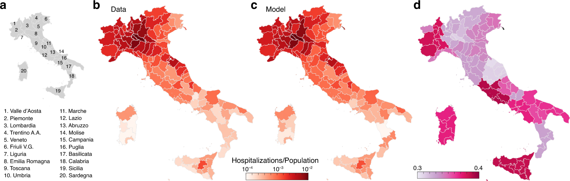 The geography of COVID 20 spread in Italy and implications for the ...