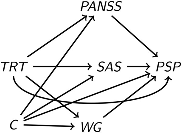 The role of PANSS symptoms and adverse events in explaining the