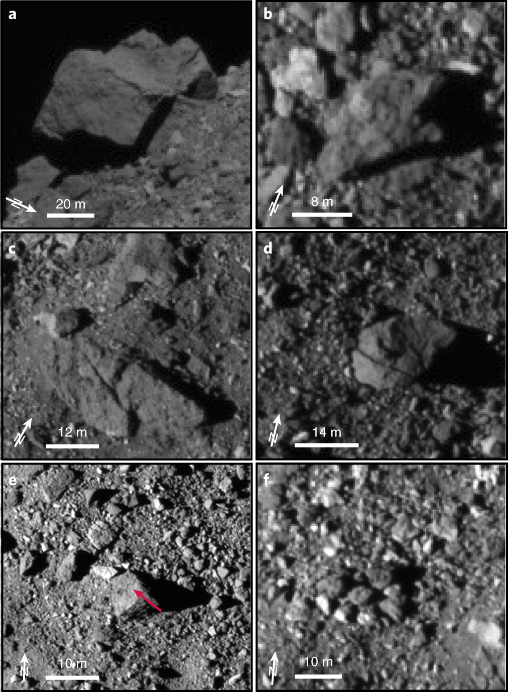 Craters, boulders and regolith of (101955) Bennu indicative of an