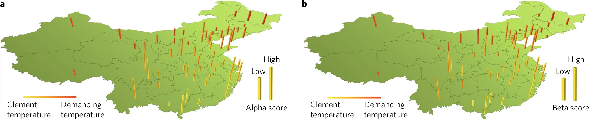 Regional ambient temperature is associated with human