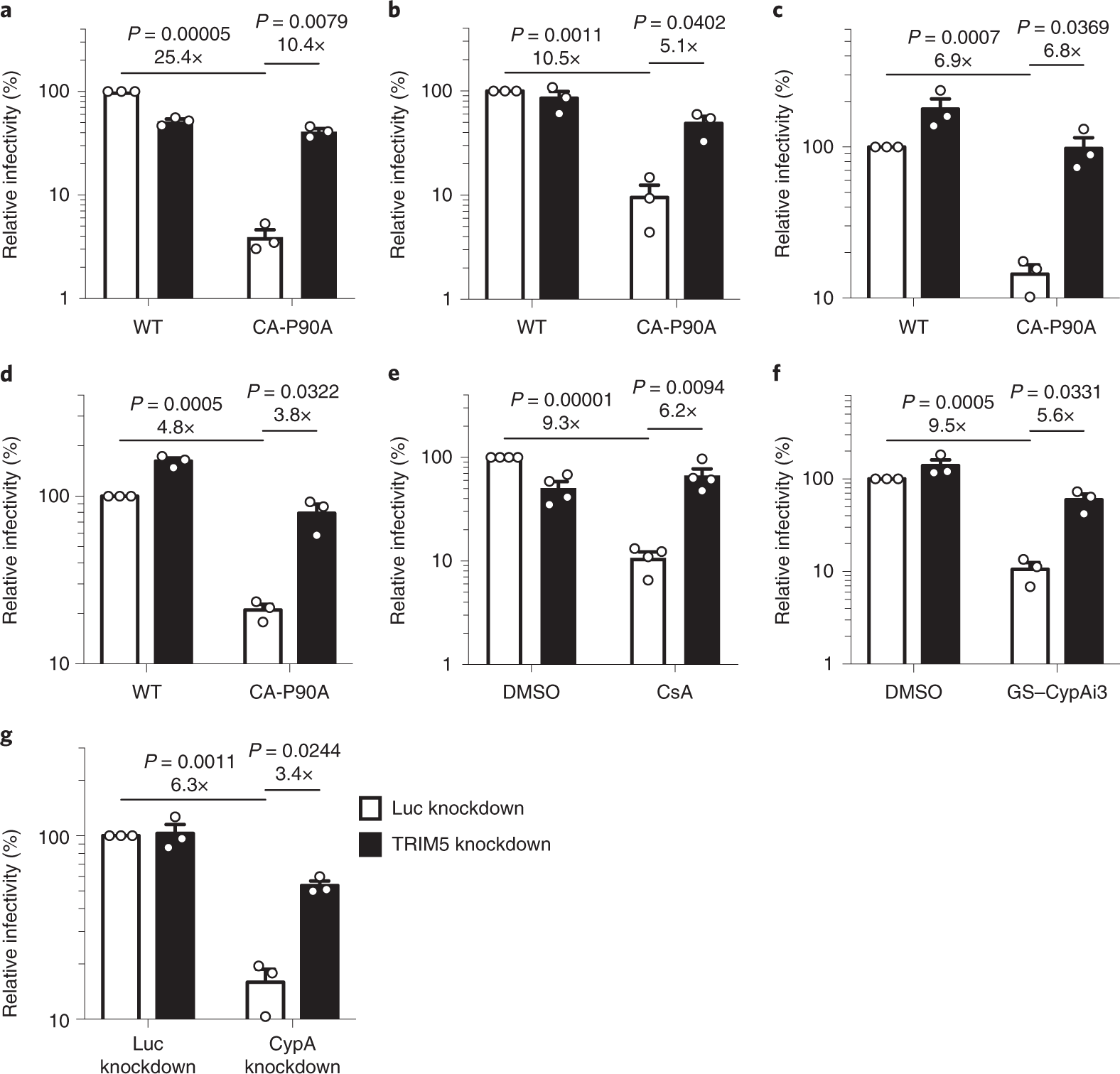 Cyclophilin A protects HIV-1 from restriction by human TRIM5α