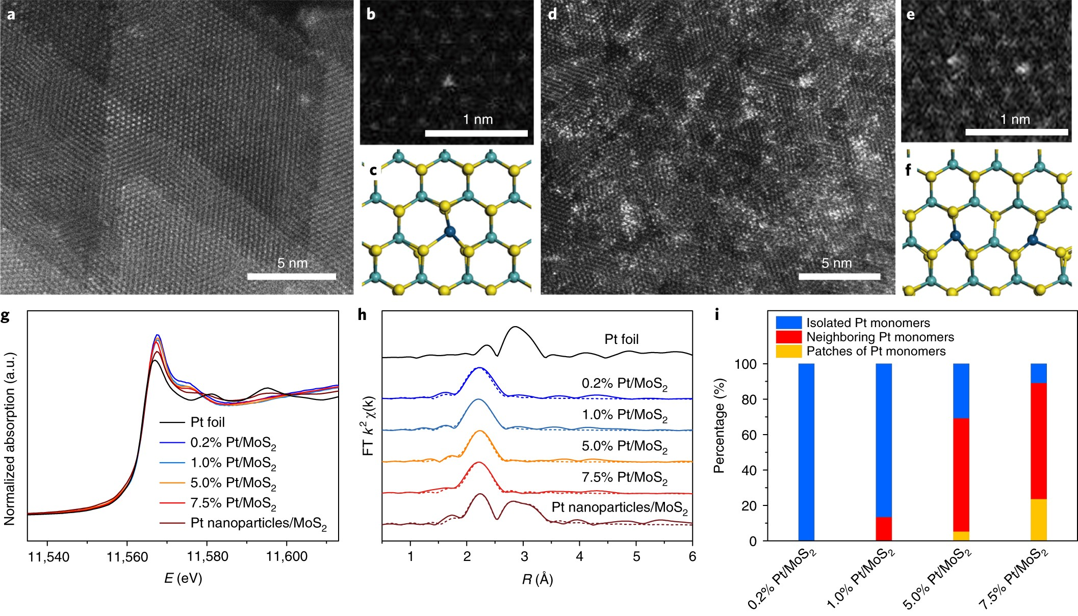 Synergetic Interaction Between Neighbouring Platinum Monomers In Co Double Diffused Mos Dmos 2 Hydrogenation Nature Nanotechnology