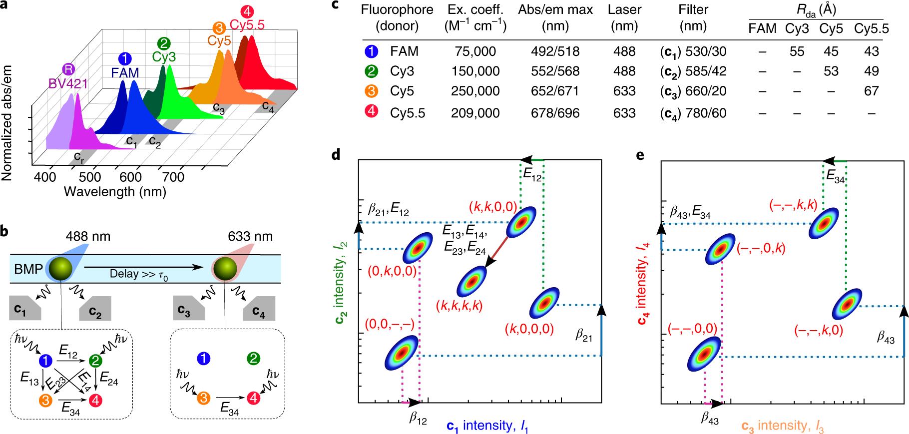 Ensemble Multicolour Fret Model Enables Barcoding At Extreme 2001 Case 580 M Wiring Diagram Levels Nature Nanotechnology