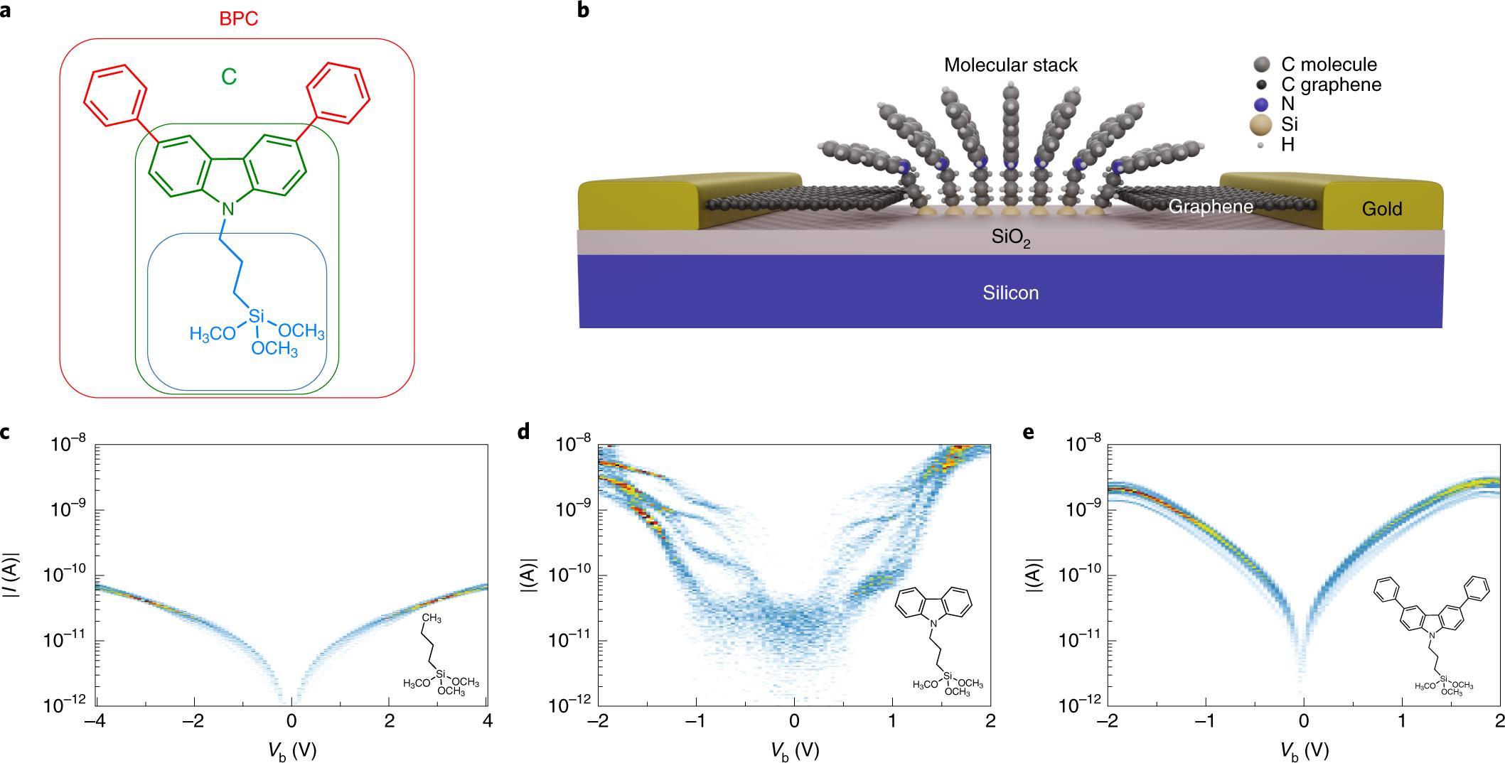 Robust graphene-based molecular devices