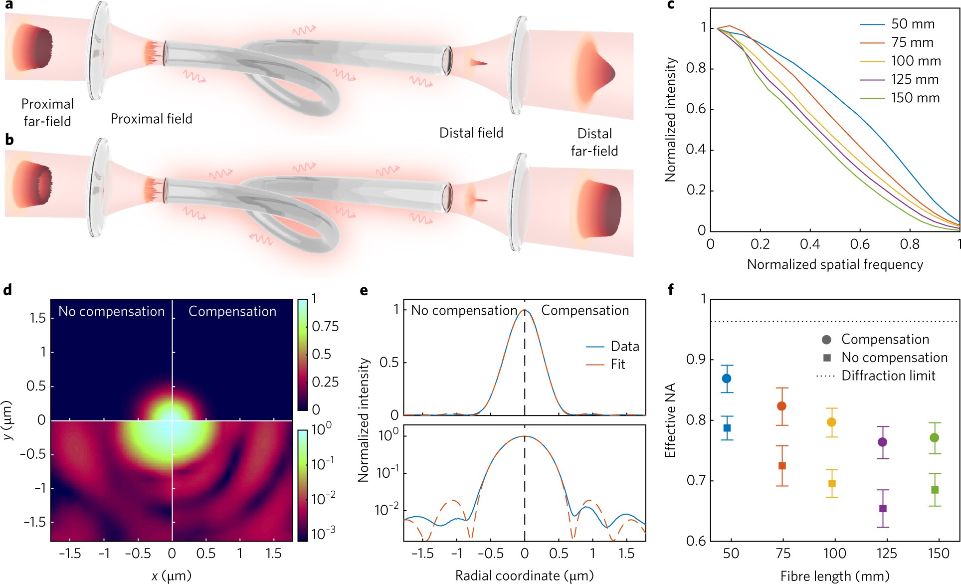 Three-dimensional holographic optical manipulation through a
