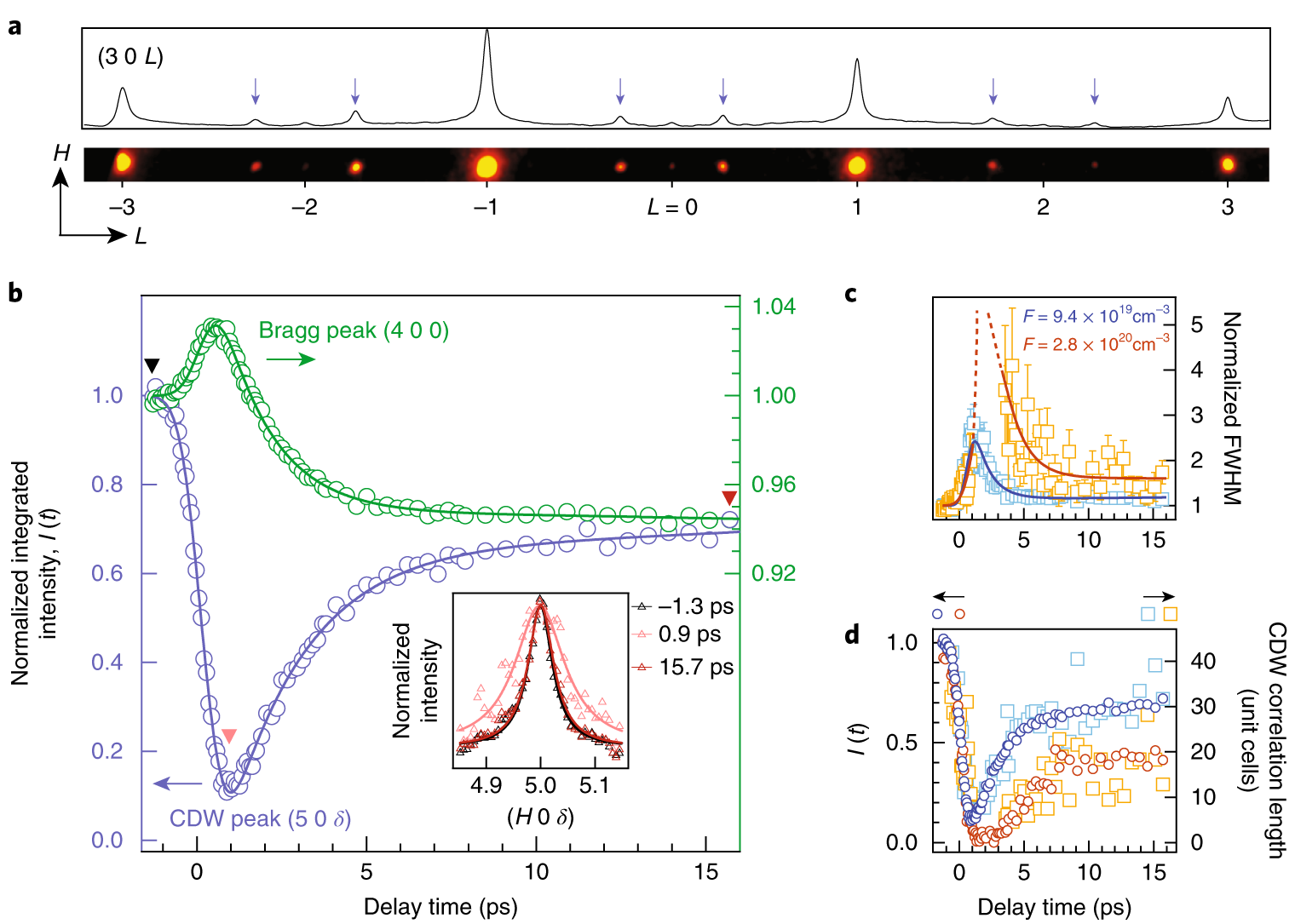 Evidence For Topological Defects In A Photoinduced Phase Transition Nature Physics