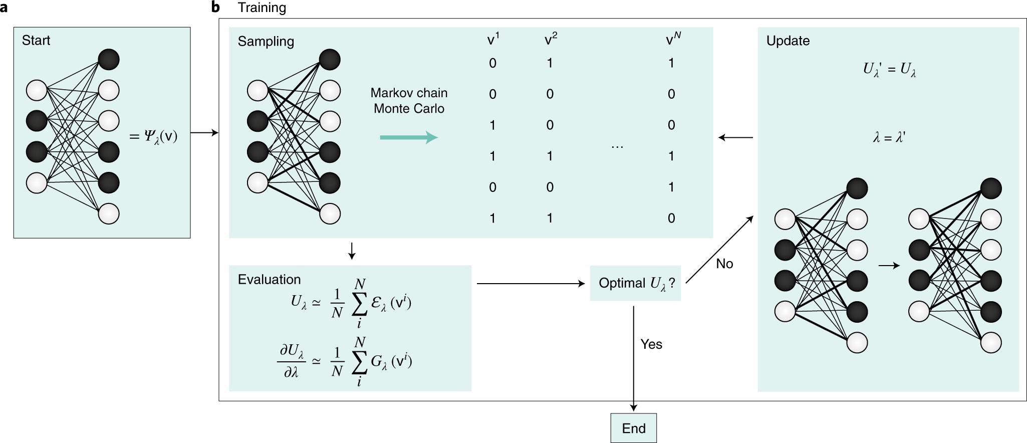 Restricted Boltzmann machines in quantum physics