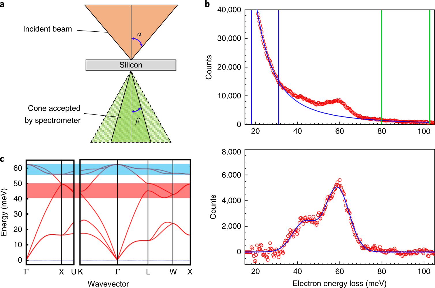 Vibrational spectroscopy at atomic resolution with electron impact sca