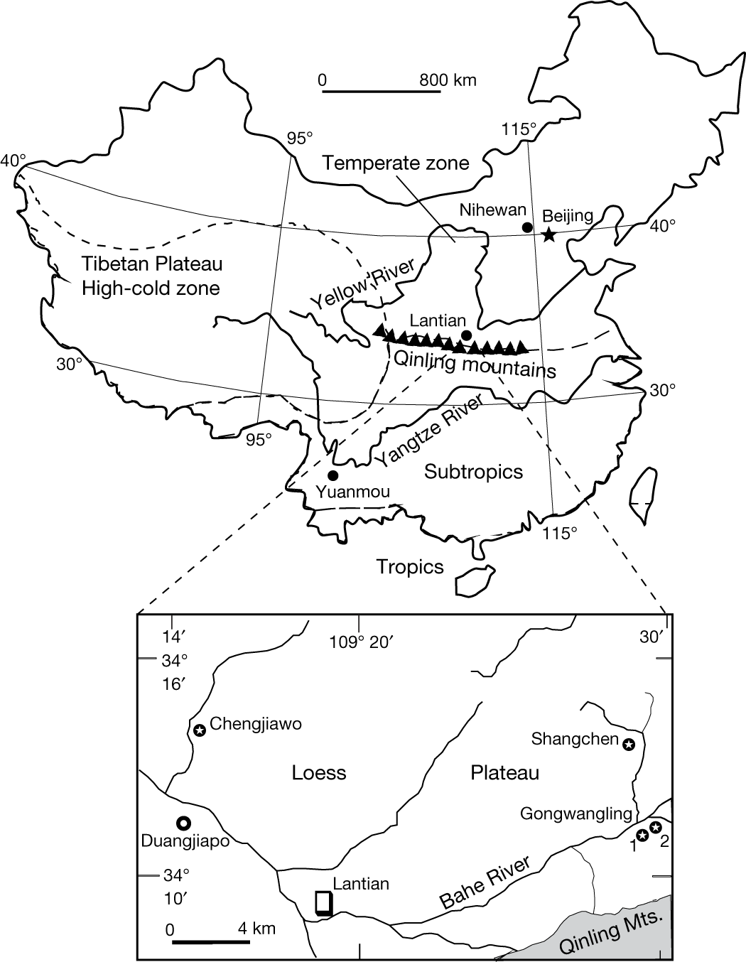 Hominin Occupation Of The Chinese Loess Plateau Since About 21
