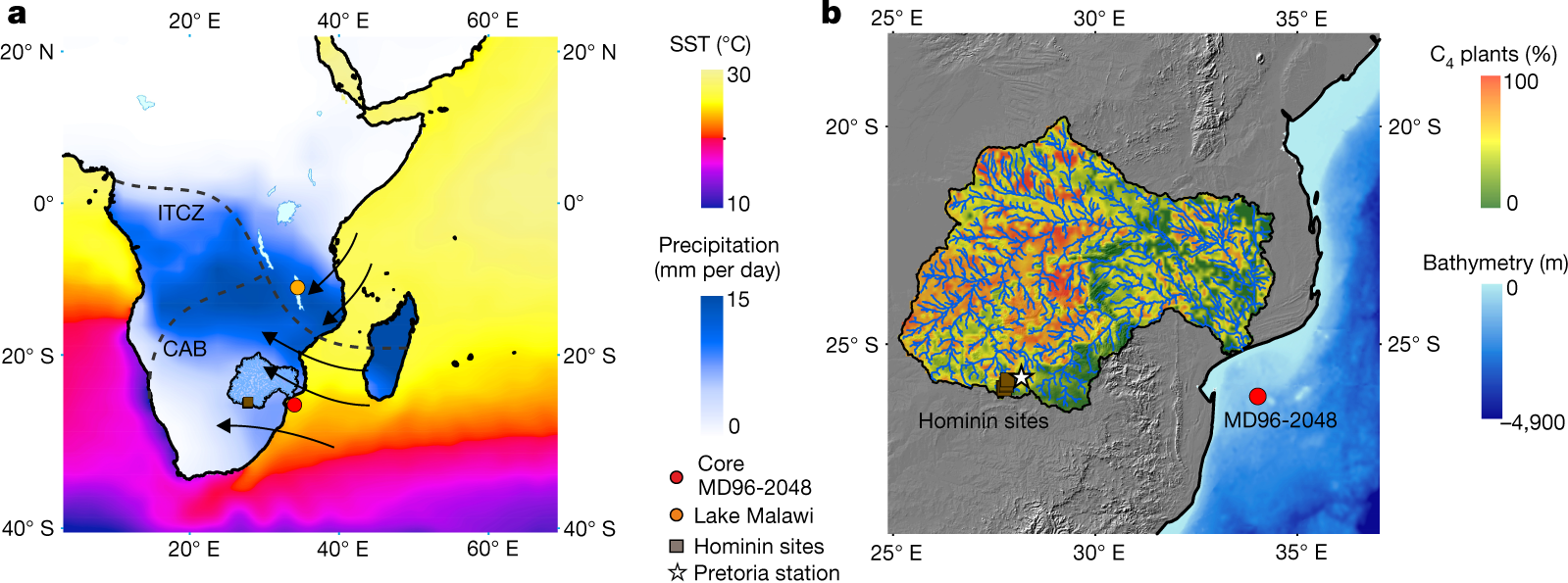 A two-million-year-long hydroclimatic context for hominin evolution in  southeastern Africa   Nature e7b748fb7577
