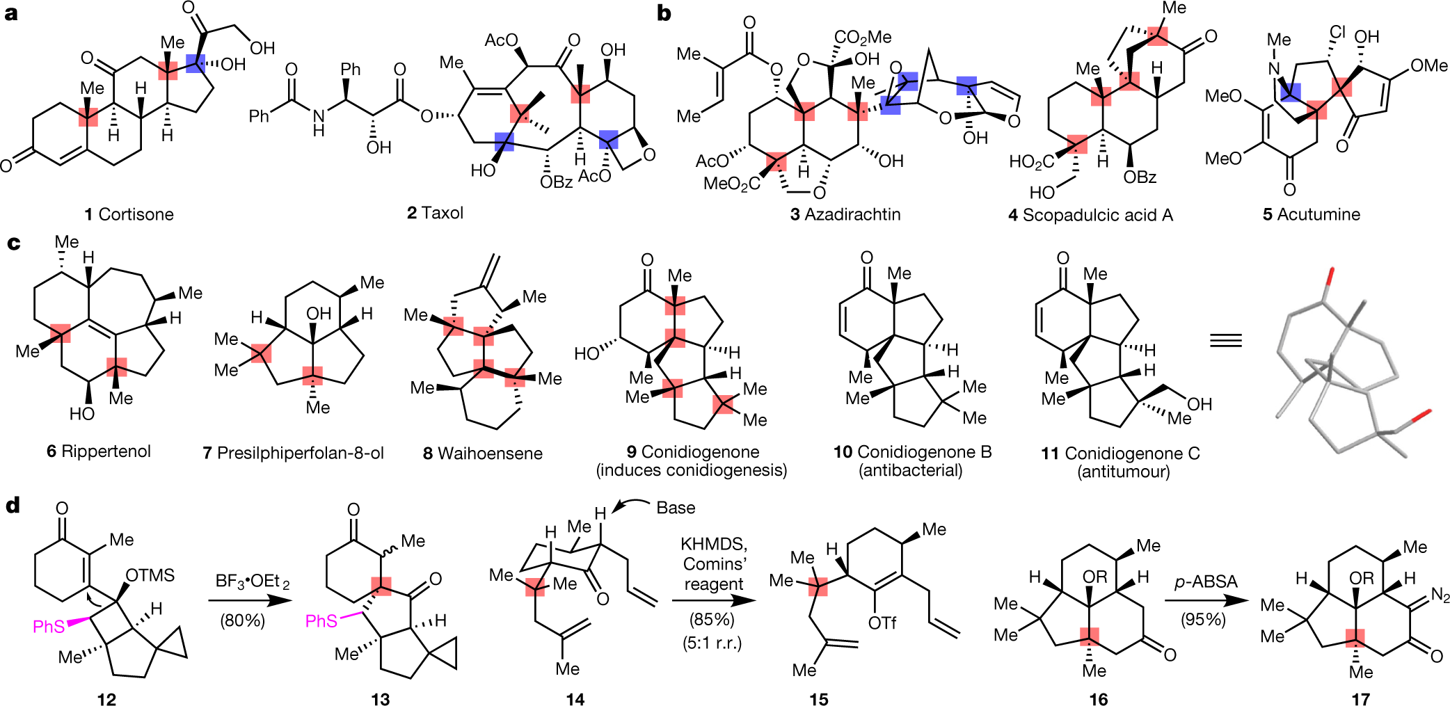 Quaternary-centre-guided synthesis of complex polycyclic