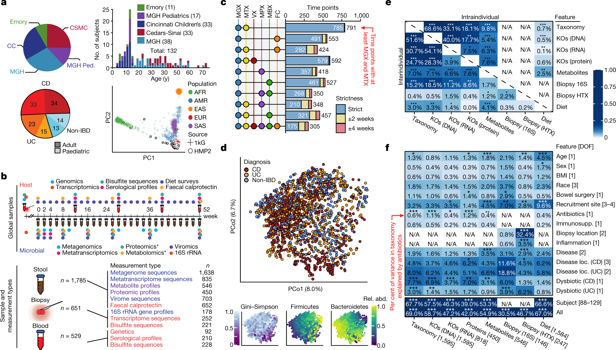 Multi-omics of the gut microbial ecosystem in inflammatory