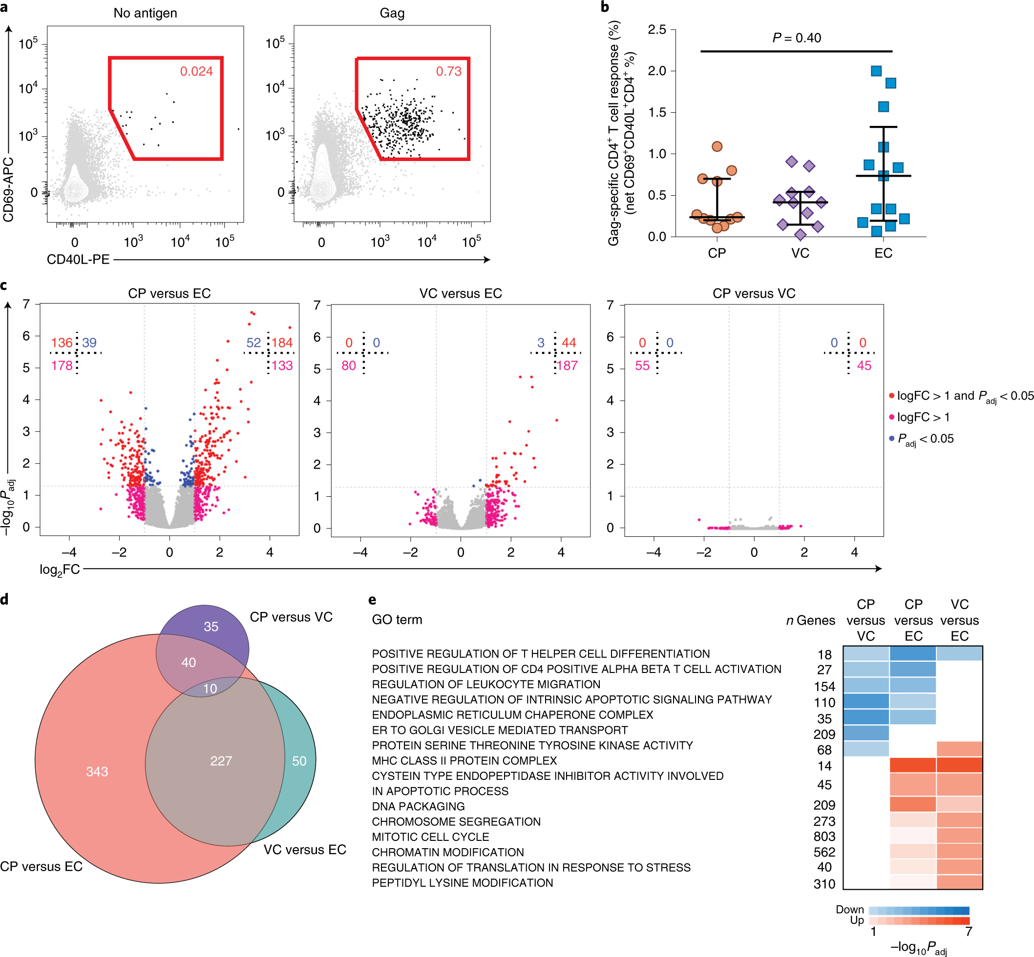 Altered differentiation is central to HIV-specific CD4 + T