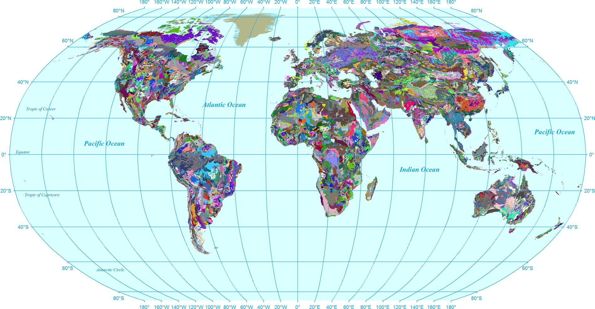 Global soil, landuse, evapotranspiration, historical and ...