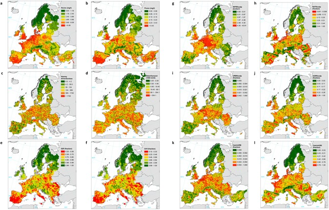 Human Pressures And Ecological Status Of European Rivers - European rivers