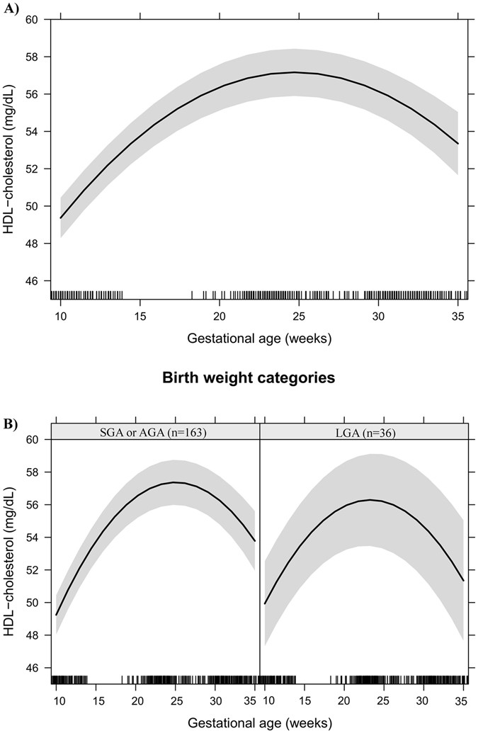 Maternal lipids and leptin concentrations are associated