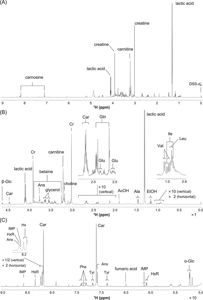 NMR-based metabolomics for simultaneously evaluating
