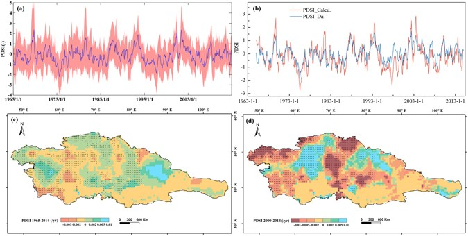 Map Of Asia Over Time.Multivariate Assessment And Attribution Of Droughts In Central Asia
