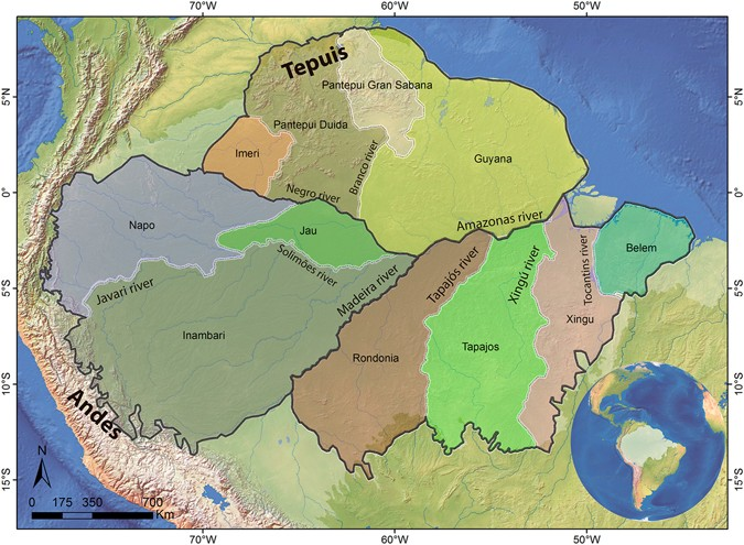 Biogeography Of Amazon Birds Rivers Limit Species Composition - Top 50 longest rivers in the world