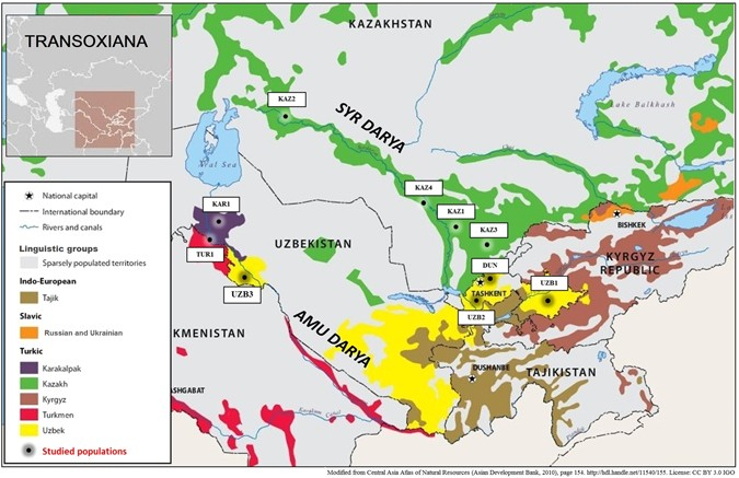 The Connection of the Genetic, Cultural and Geographic ... on find a country on a map, north africa map, russia in asia, russia and byzantine empire map, europe map, nato bases map, russia map with cities and rivers, russia political map, russia and philippines map, russia and norway map, tajikistan on asia map, map of russia map, just asia map, countries border china map, russia and former soviet union map, russia and switzerland map, volgograd russia map, russia and france map, central america map, russia and caucasus map,