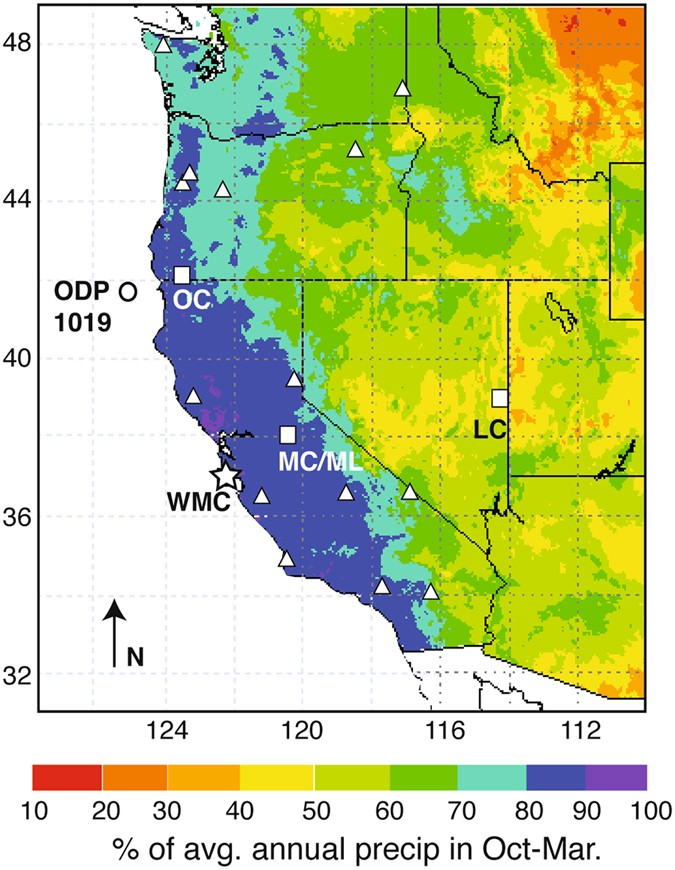 climate response to the 82 ka event in coastal california scientific reports