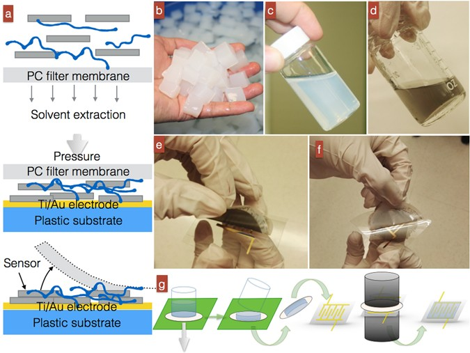 Alcohol Recognition by Flexible, Transparent and Highly Sensitive