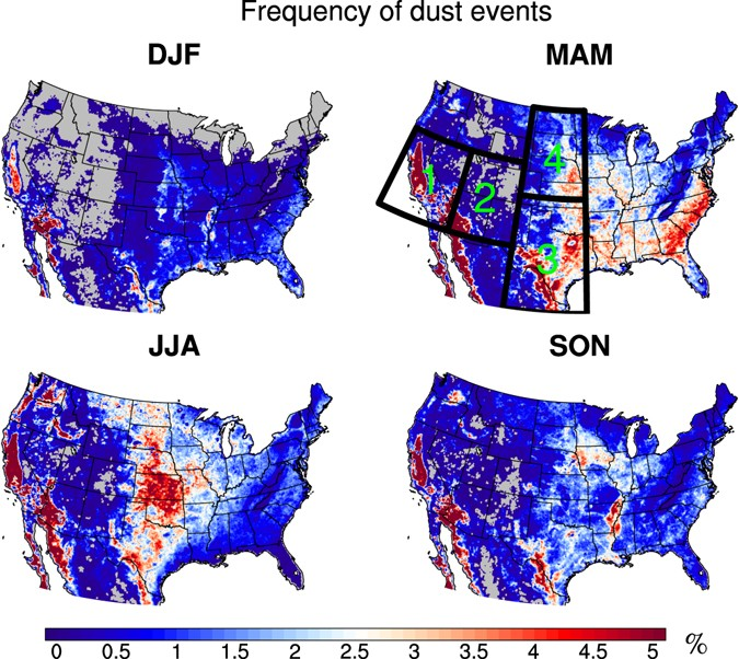 Projection of American dustiness in the late 21 st century