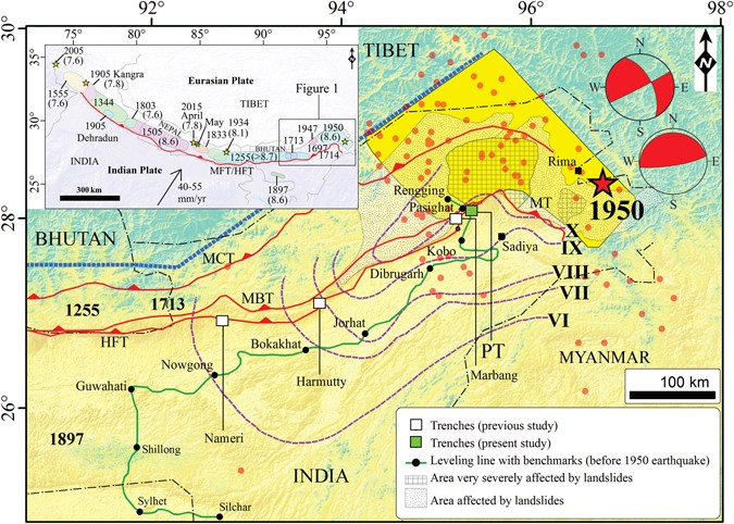 a9e683e76a3f91 Primary surface rupture of the 1950 Tibet-Assam great earthquake ...