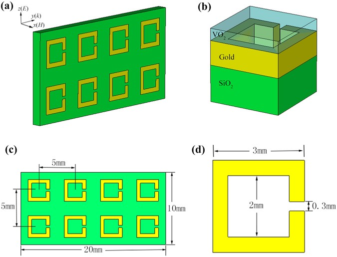 Microwave Tunable Metamaterial Based On Semiconductor To Metal Phase