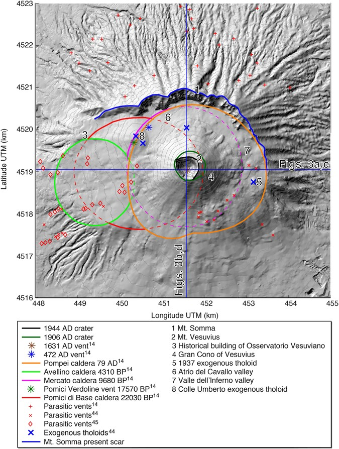 The 3-D structure of the Somma-Vesuvius volcanic complex (Italy