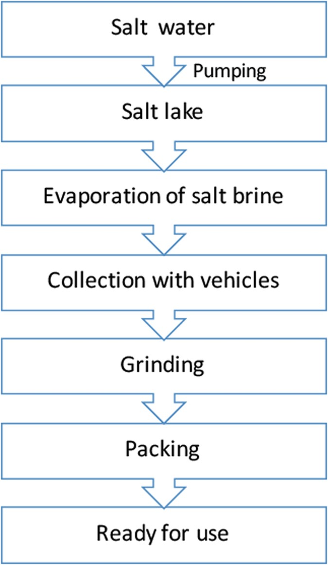 scheme of the salt manufacturing process