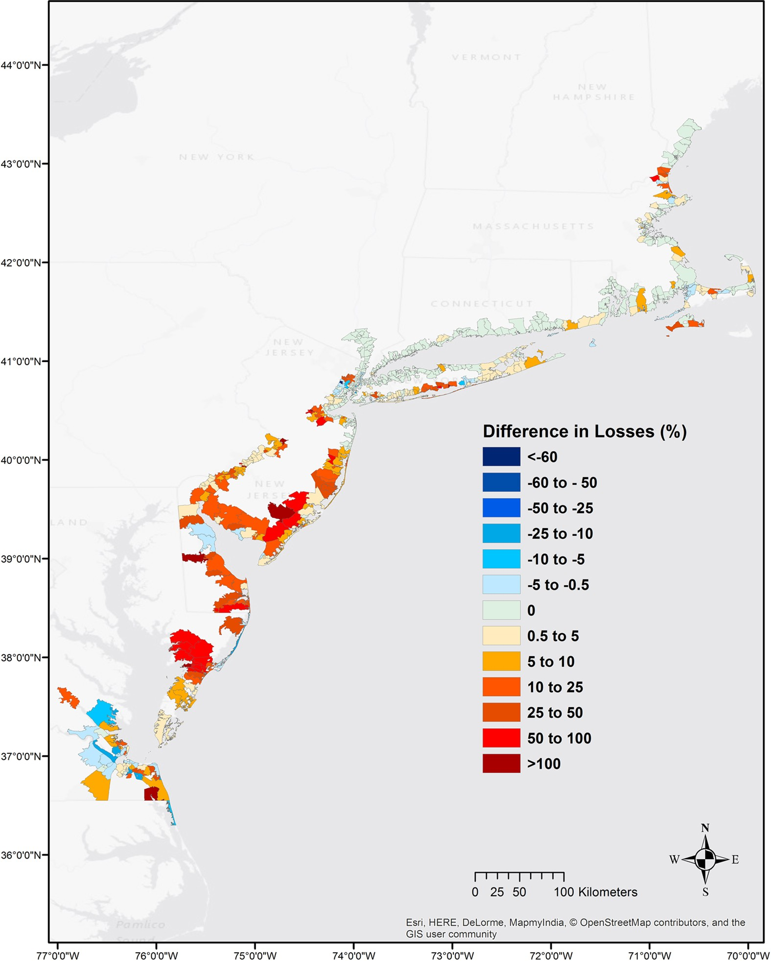 the value of coastal wetlands for flood damage reduction in the northeastern usa scientific reports