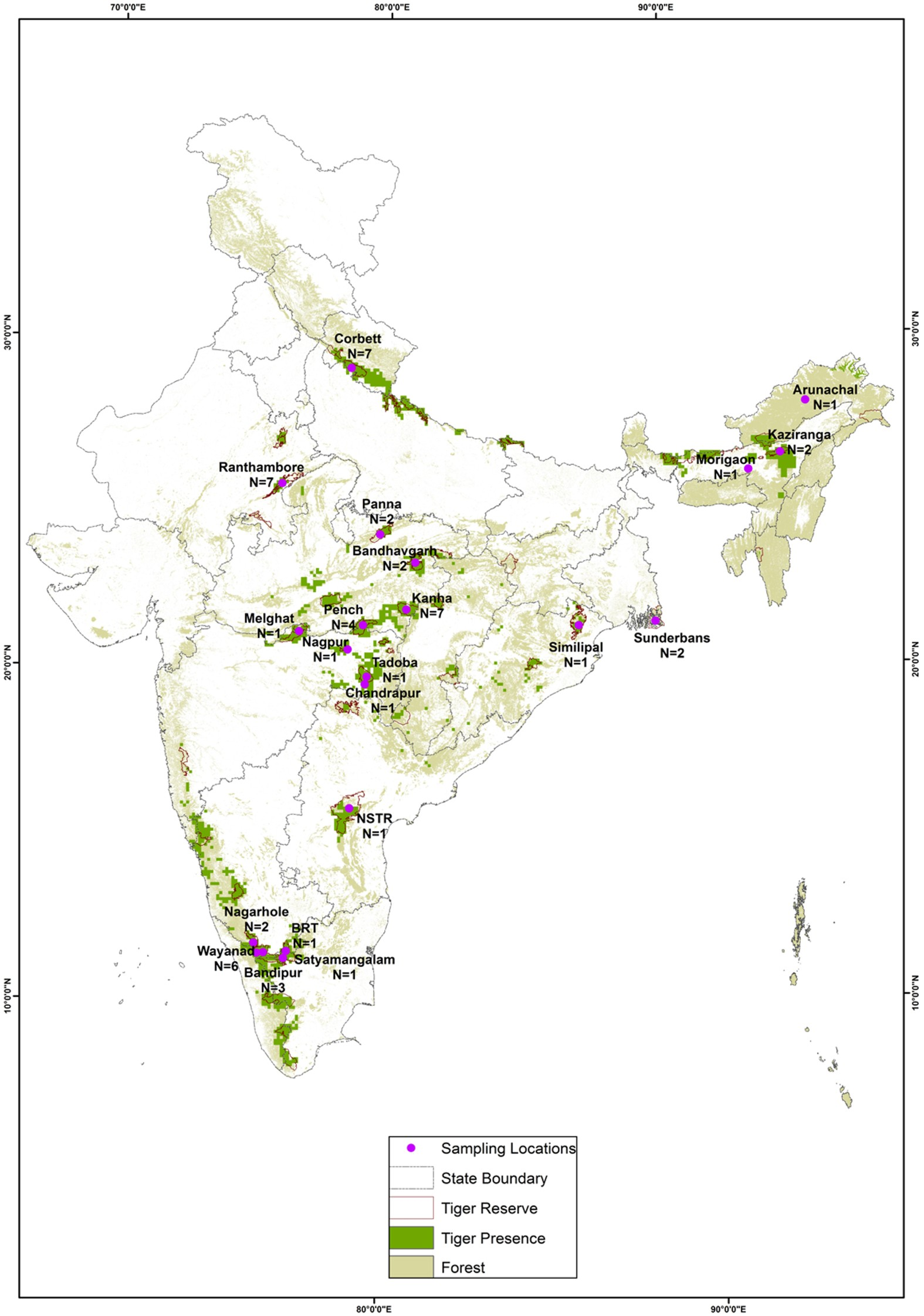 Conservation priorities for endangered Indian tigers through