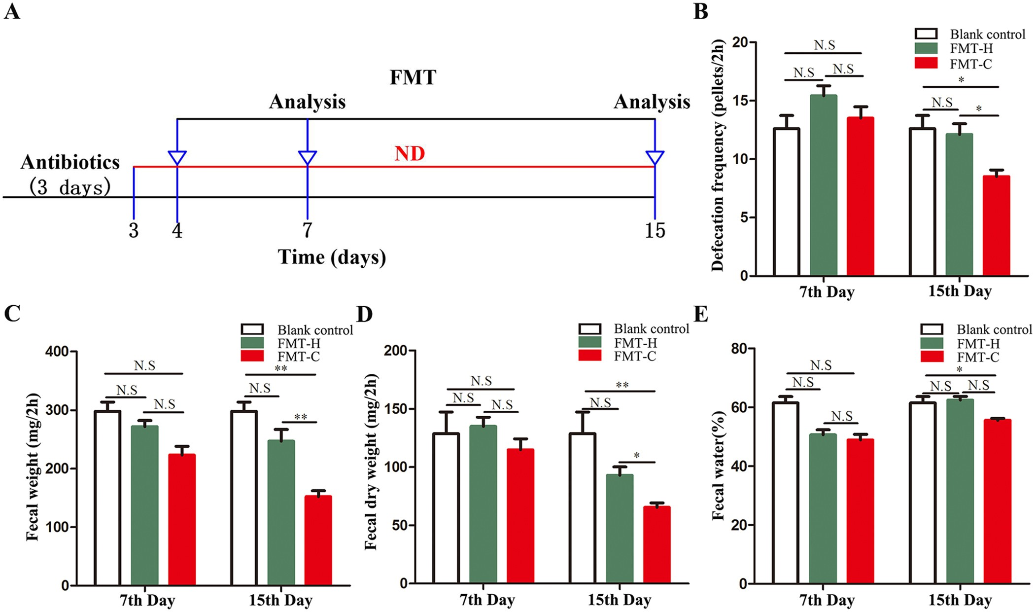 Dysbiosis contributes to chronic constipation development
