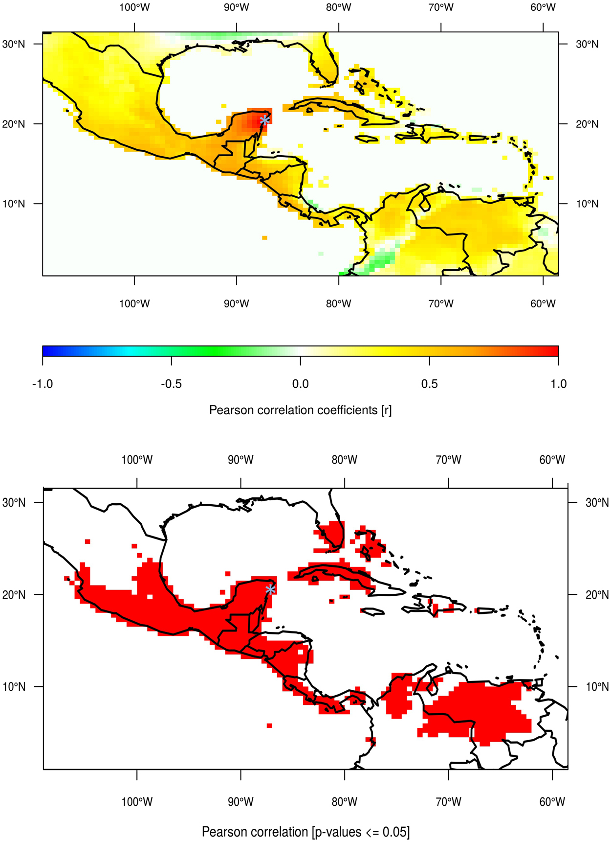 Synchronous precipitation reduction in the American Tropics