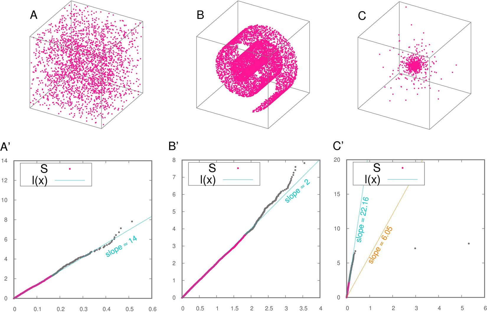 Estimating the intrinsic dimension of datasets by a minimal