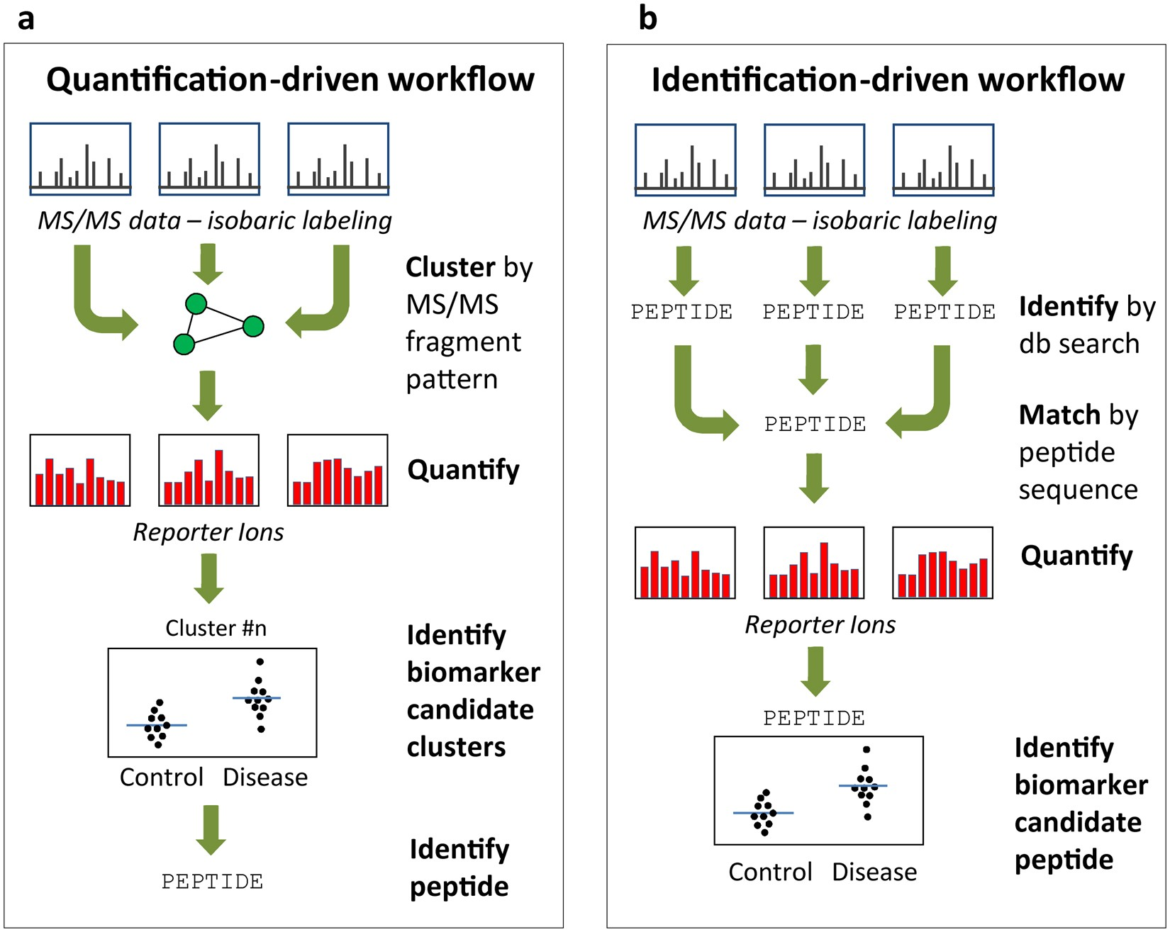 A novel quantification driven proteomic strategy identifies an