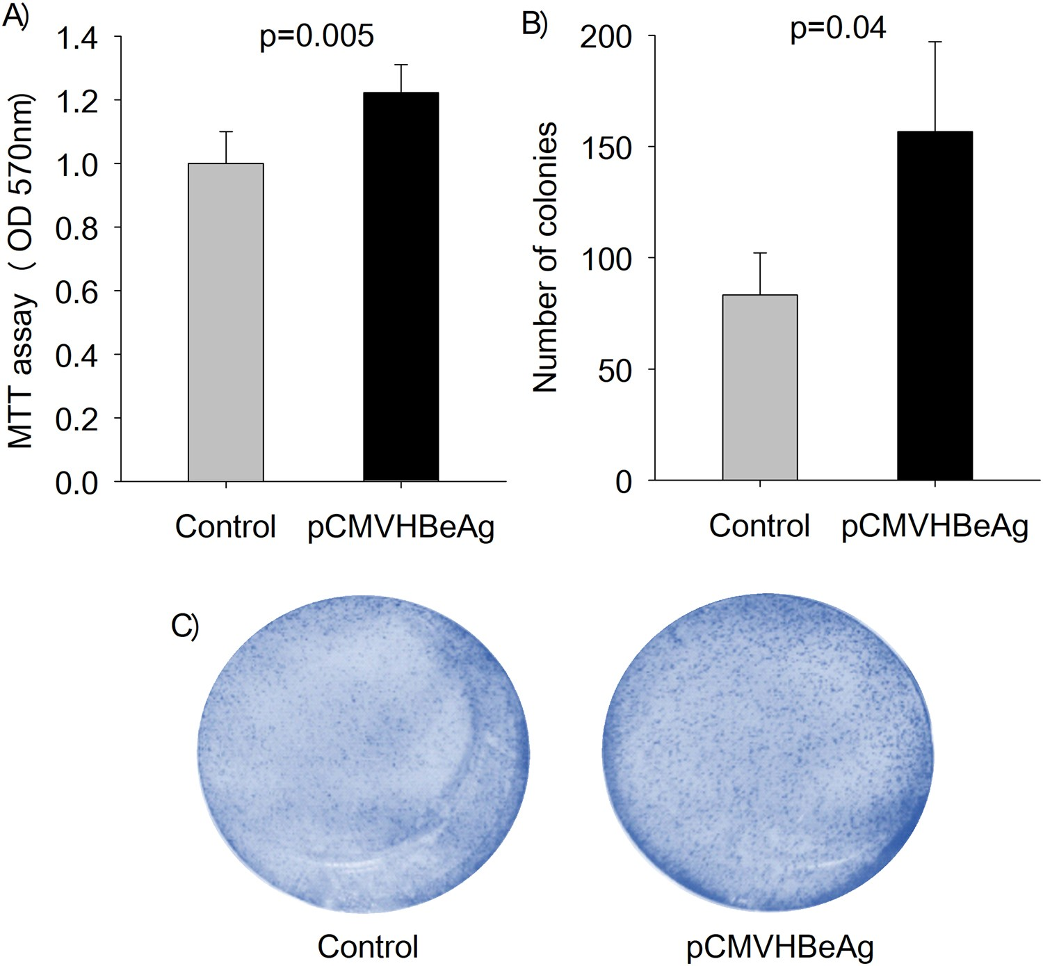 HBeAg induced miR 106b promotes cell growth by tar ing the