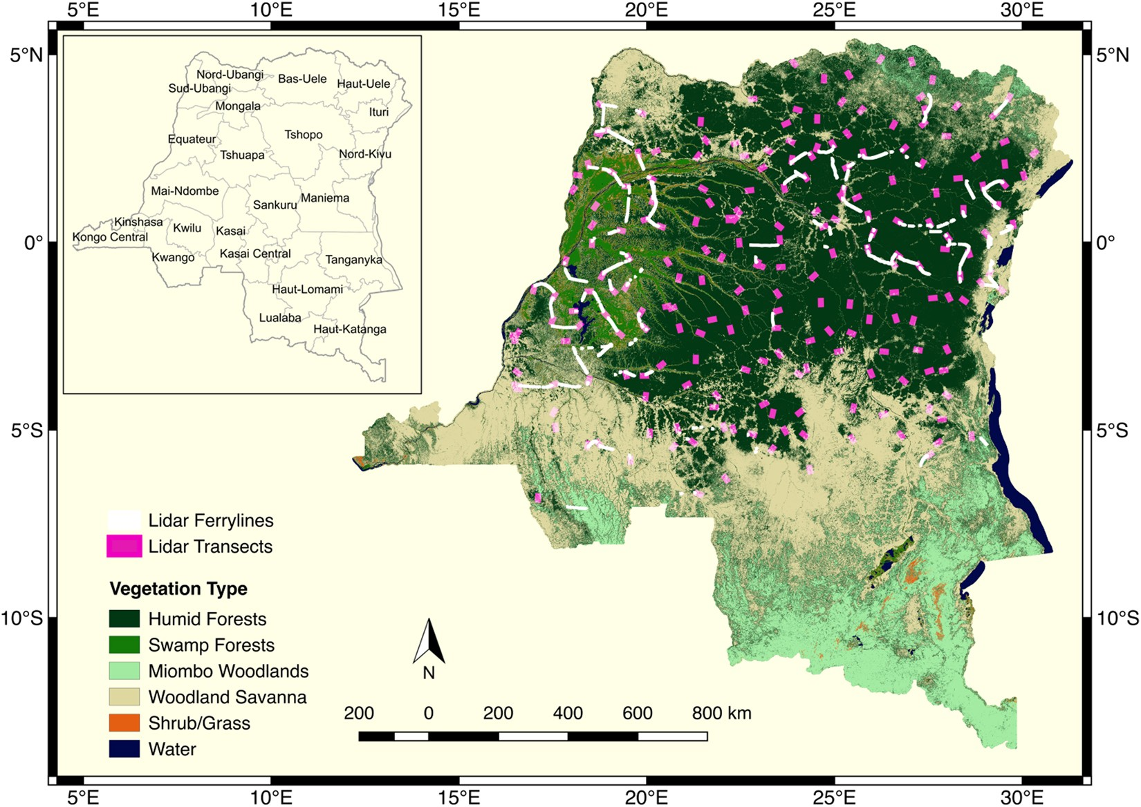 Congo Rainforest Africa Map