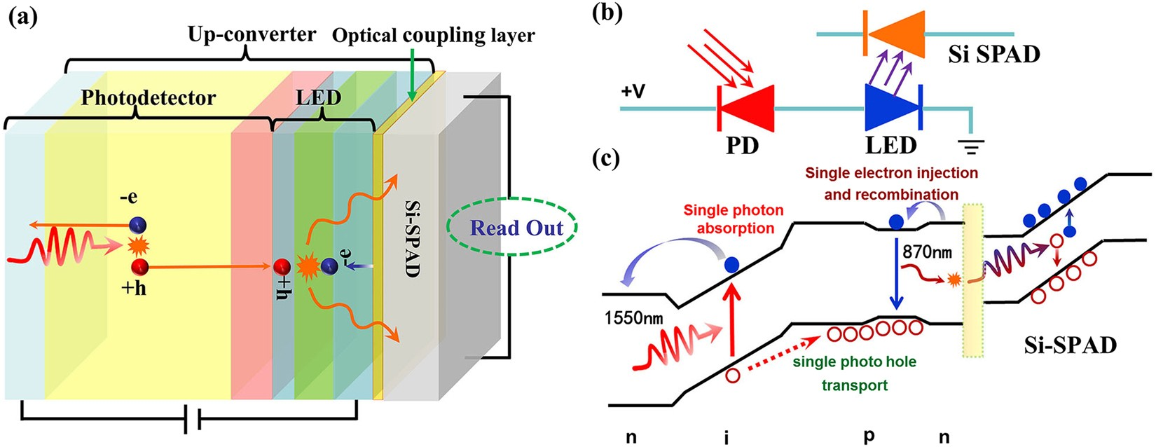 Infrared Single Photon Detector Based On Optical Up Converter At Figure 1 Simplified Red And Led Bias Control Circuit 1550 Nm Scientific Reports