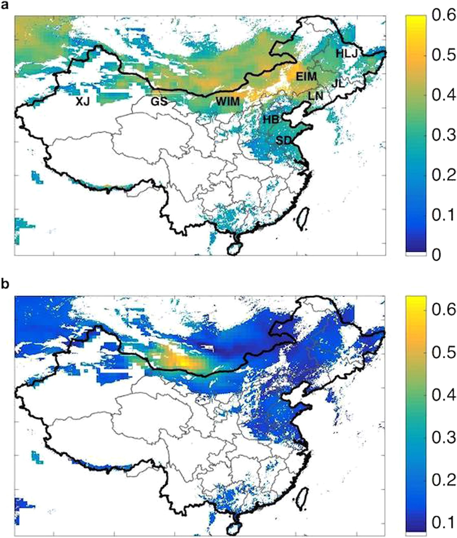 Wind-generated Electricity in China: Decreasing Potential