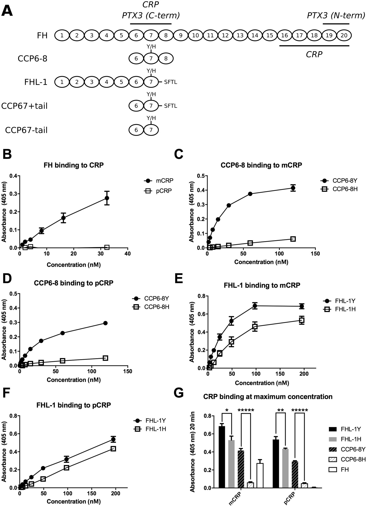 C-reactive protein and pentraxin-3 binding of factor H-like protein