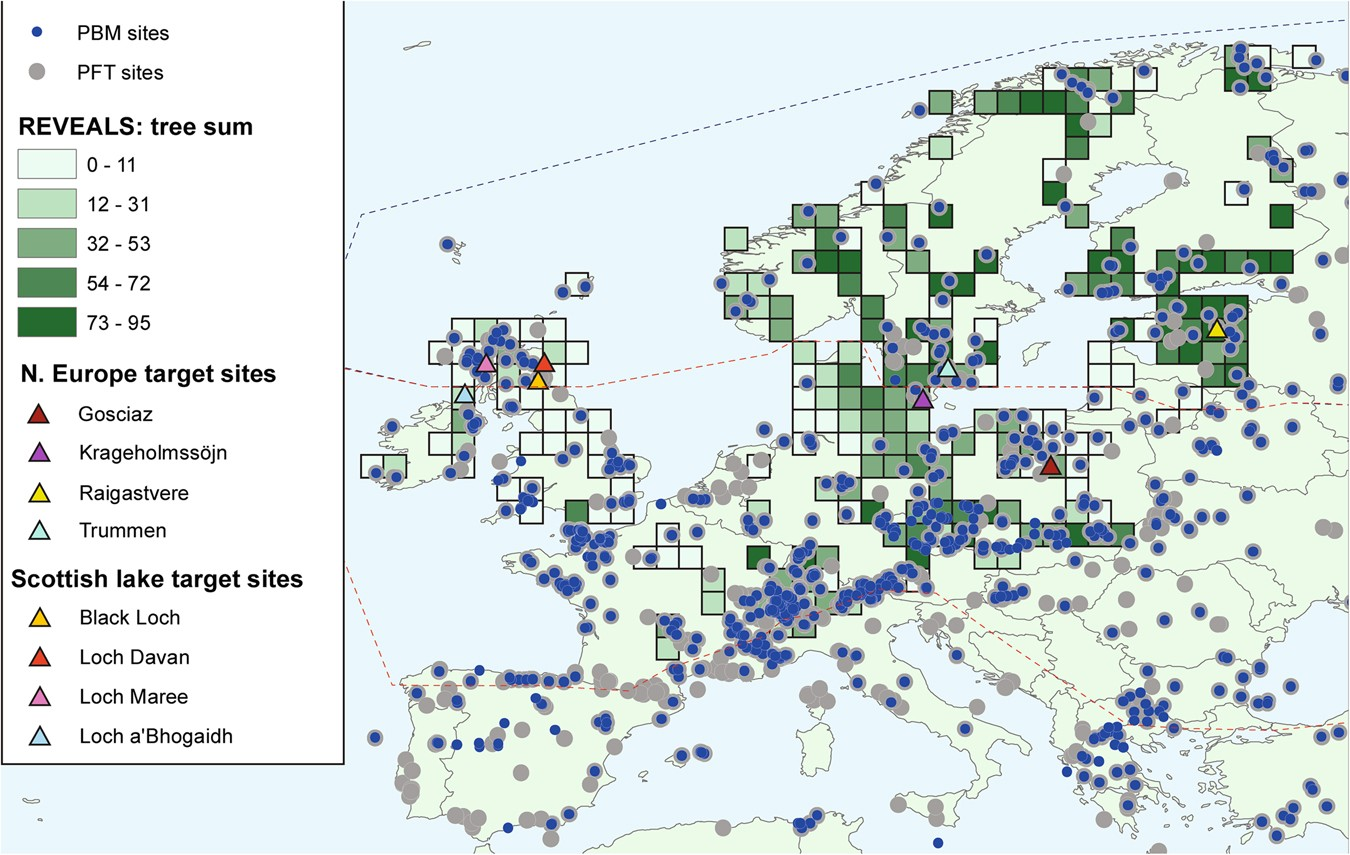 Map Of Uk Forests.Europe S Lost Forests A Pollen Based Synthesis For The Last 11 000