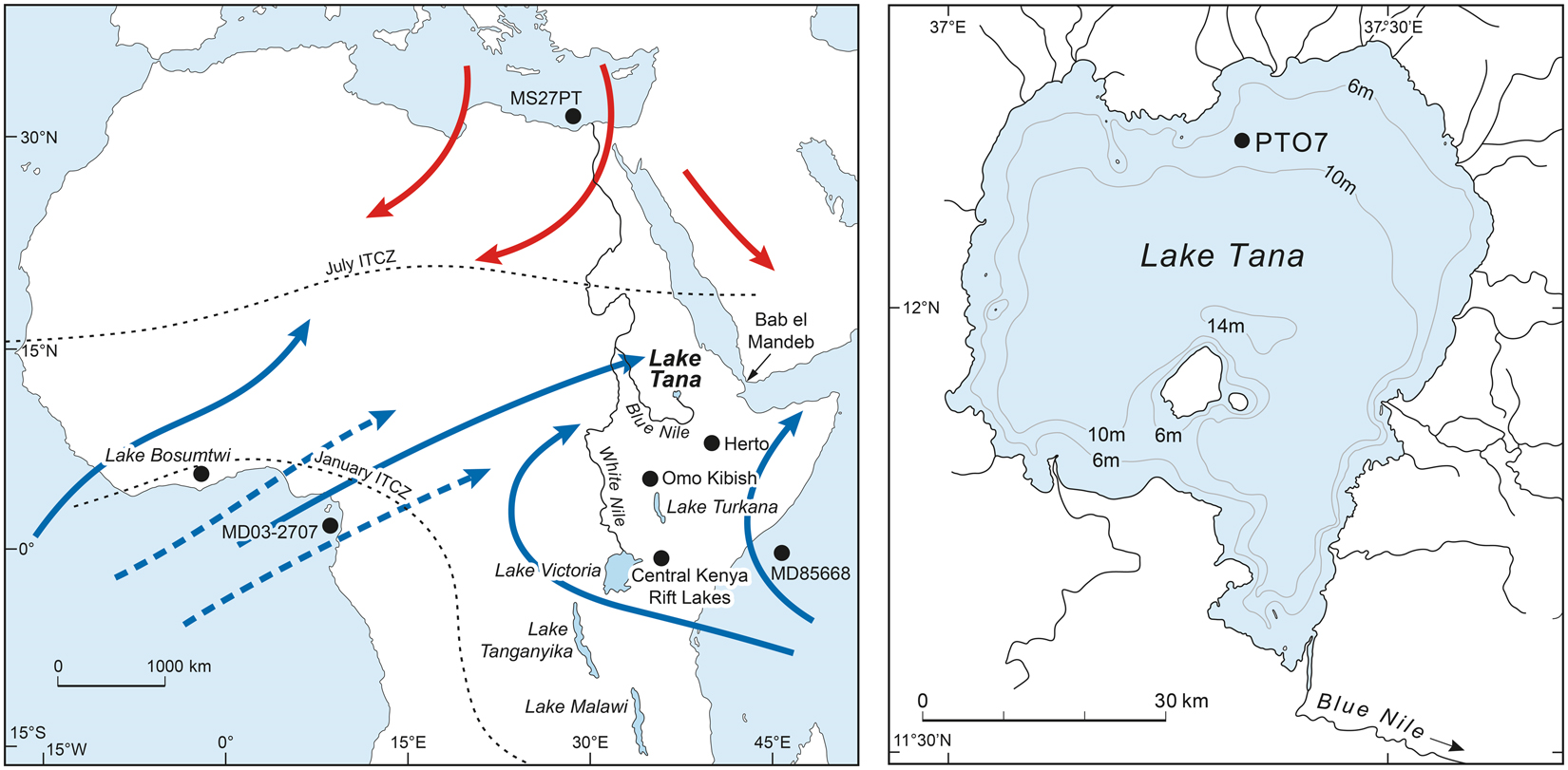 150,000-year palaeoclimate record from northern Ethiopia