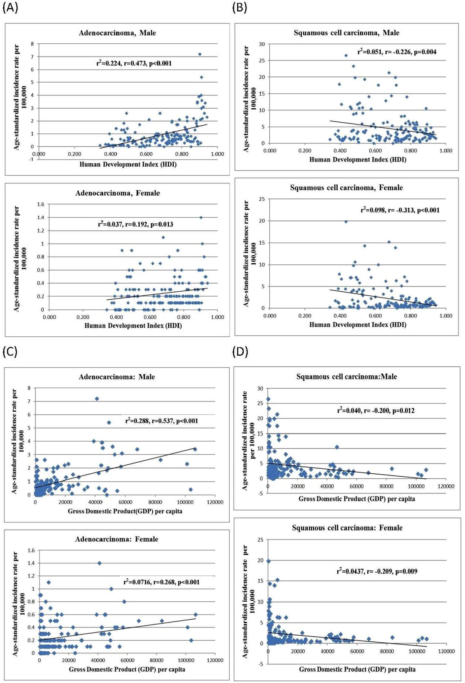 Global Incidence and mortality of oesophageal cancer and
