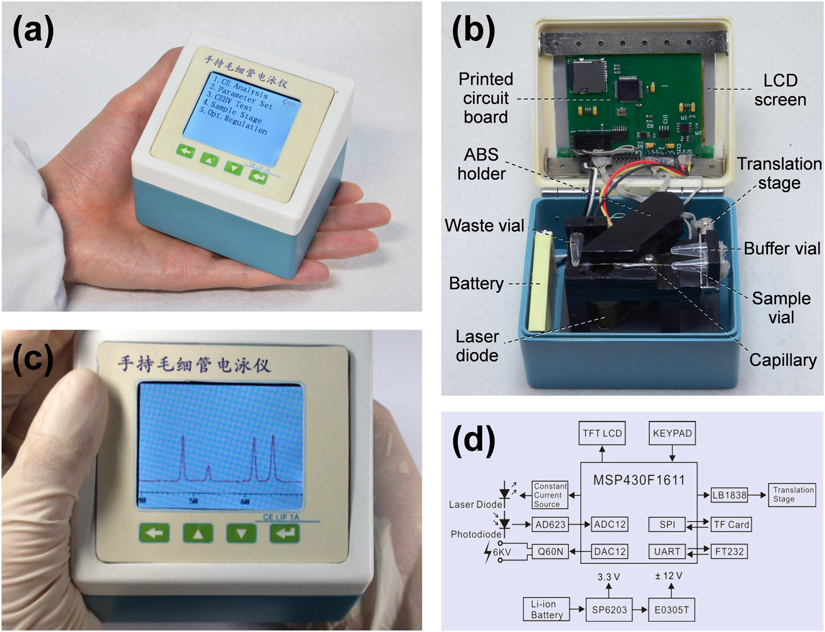 A Low-Cost Palmtop High-Speed Capillary Electrophoresis