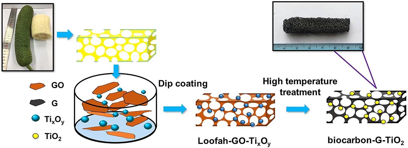 Bio-derived three-dimensional hierarchical carbon-graphene
