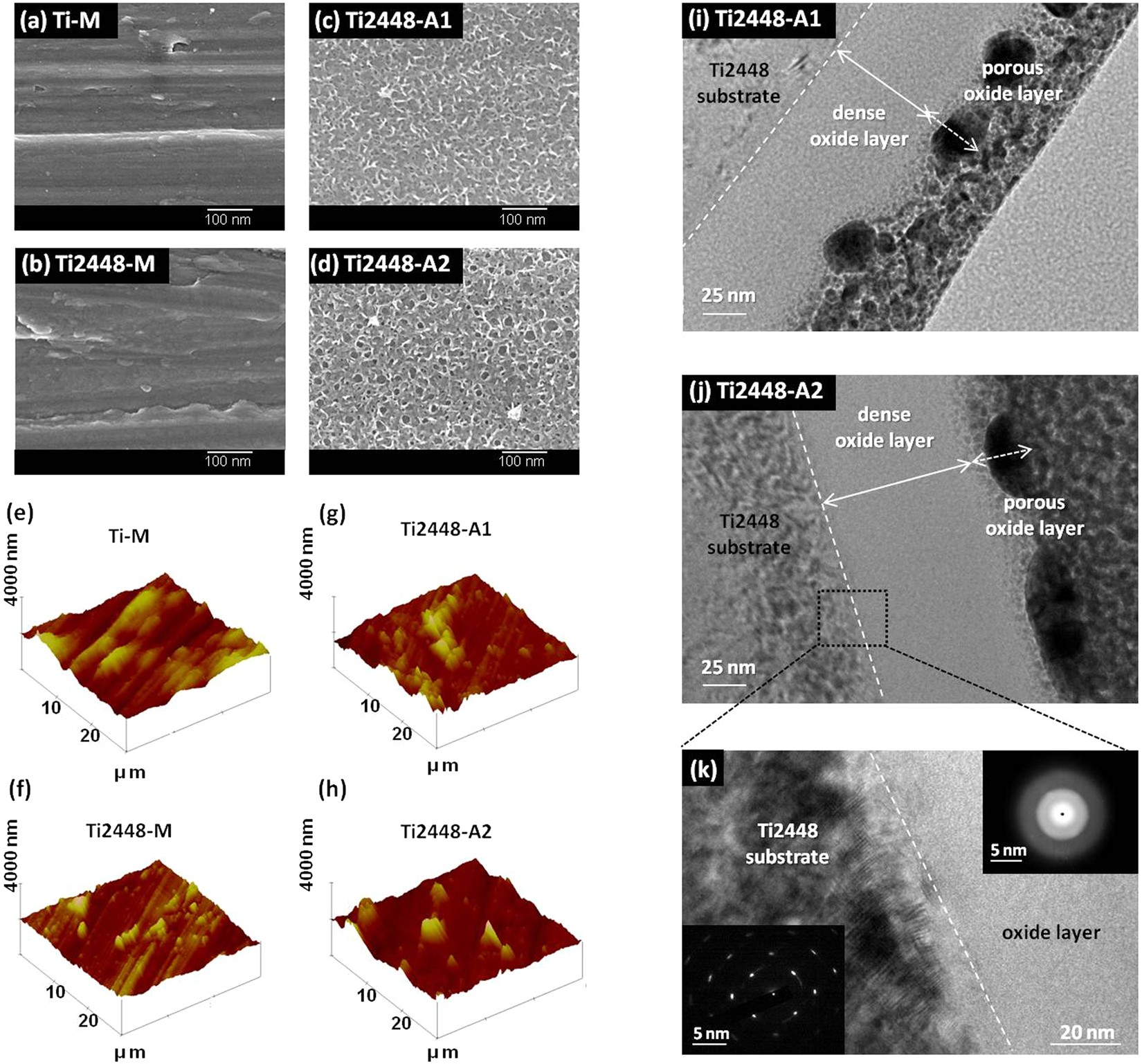 A unique hybrid-structured surface produced by rapid electrochemical ...