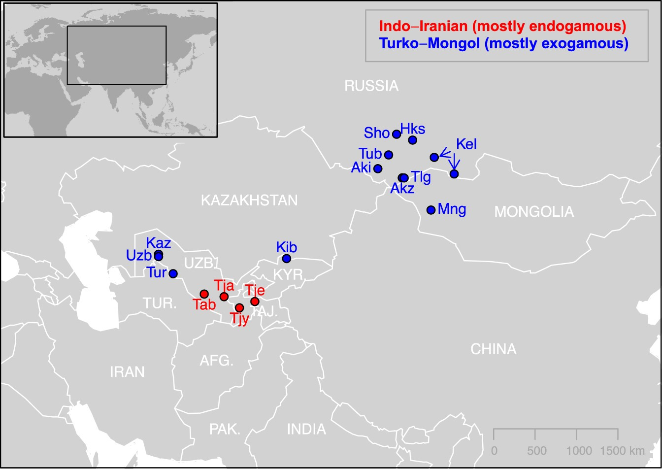 Close inbreeding and low genetic diversity in Inner Asian