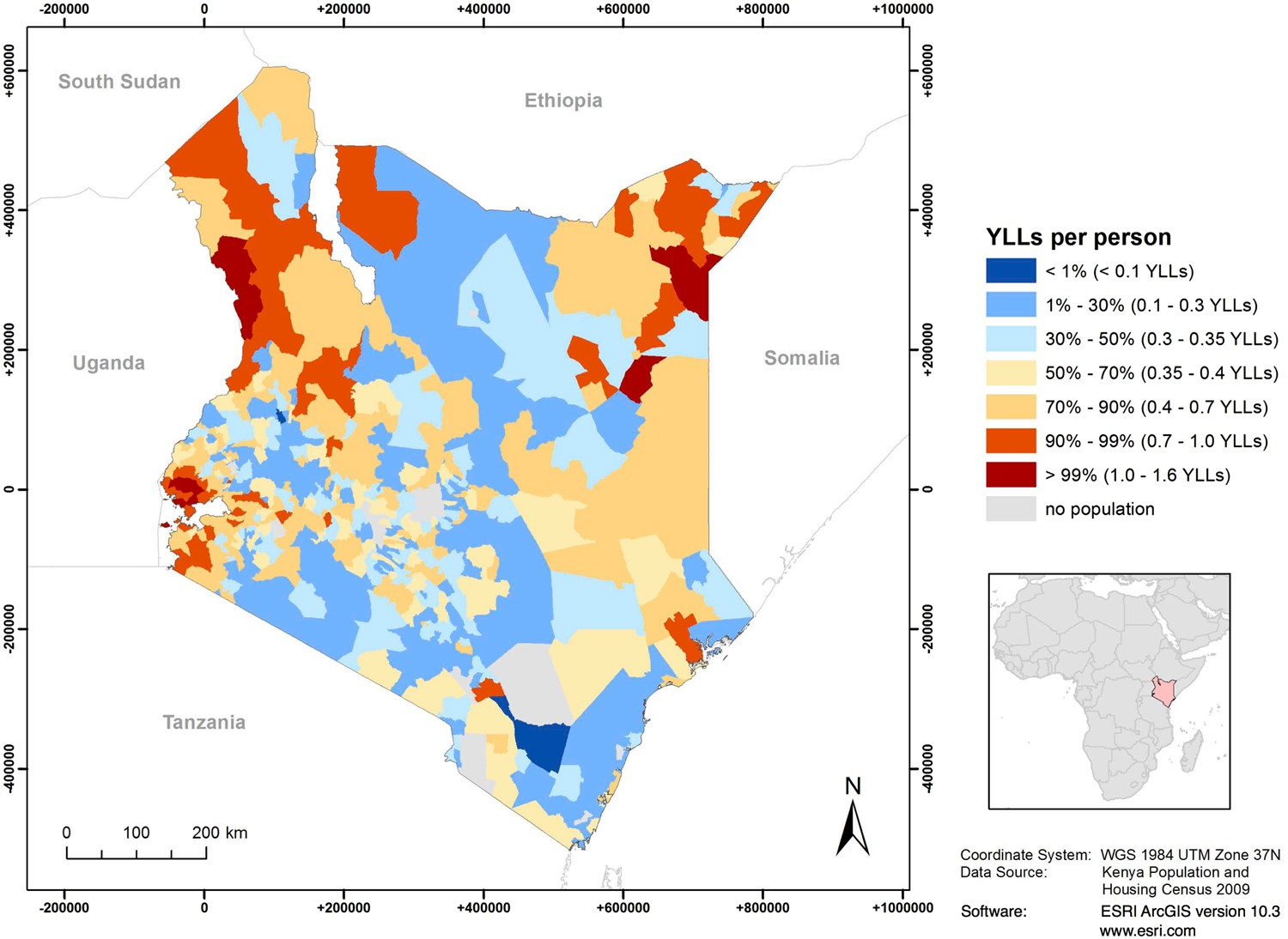 Modeling and mapping the burden of disease in Kenya
